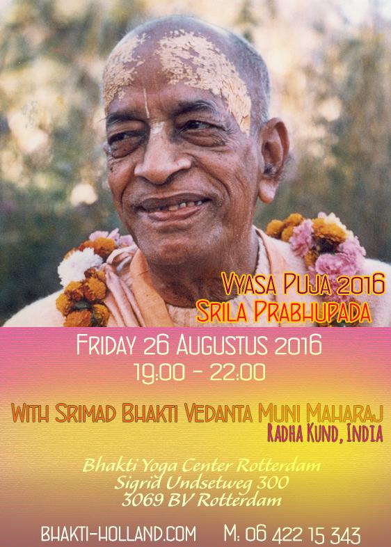 Vyasa Puja Srila Prabhupada 26082016